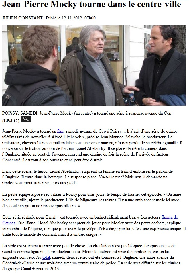 Article du parisien du 121112